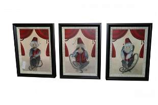 Set of 3 Monkey Prints