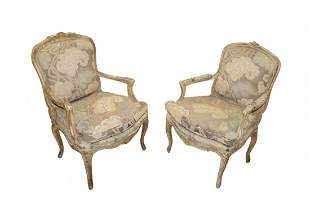 Fine Pair of Antique French Arm Chairs