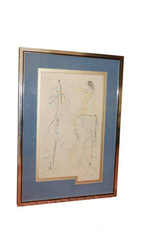 Salvador Dali Etching Signed Print 128/200