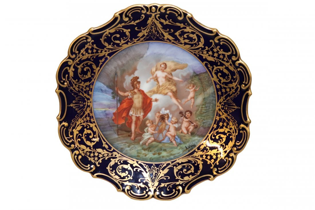 Hand Painted Limoges Cabinet Plate Romans