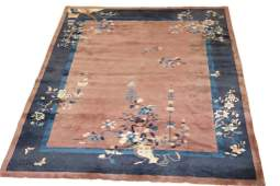 Antique Chinese Handwoven Carpet