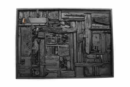 Louise Nevelson Black Wall Sculpture