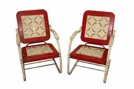 Pair Of Bunting #813 Outdoor Lawn Rockers