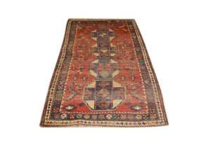 Tribal Antique Persian Bijar Rug