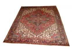 Vintage Persian Heriz Room Size Carpet