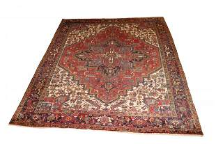 Vintage Persian Heriz Room Size Carpet