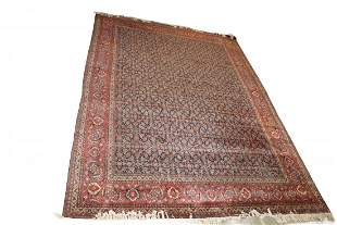 Rare Antique Large Room Size Senneh Persian Rug.