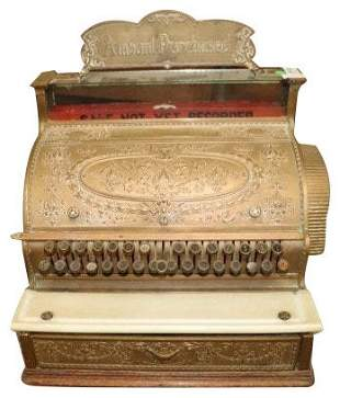 Fantastic Antique National Cash Register
