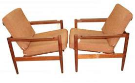 Pair of Danish Modern  Borg Jensen & Sonner Chairs