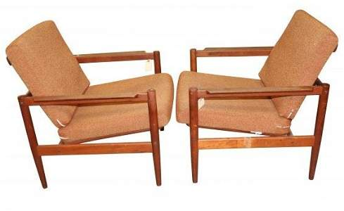 Pair of Danish Modern  Borg Jensen & Sonner Chairs