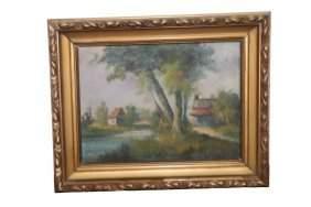 Oil on Canvas Landscape painting.