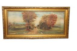 Vintage Landscape Oil on Canvas