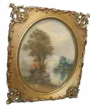 Vintage Framed Landscape Painting