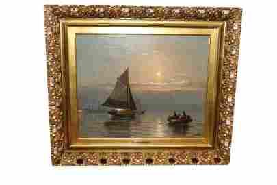 Spectacular  Edward Moran Painting