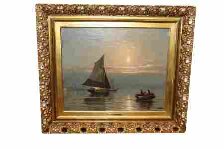 Spectacular  Edward Moran Painting