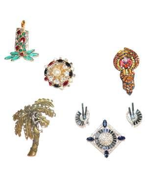 Collection Vintage Jewelry, Hobe, Wiesner, & Kramer