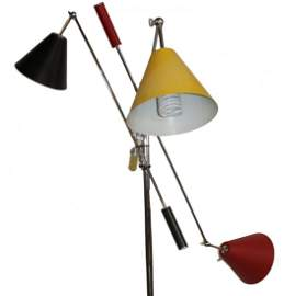 Angelo Lelli for Arredoluce Triennale Floor Lamp