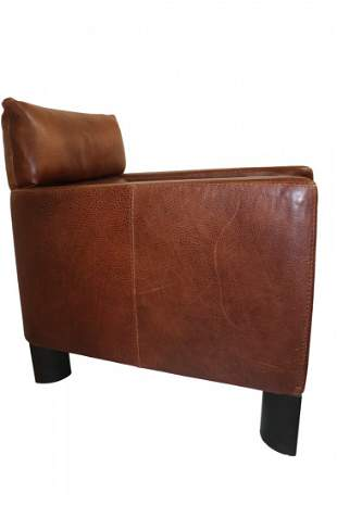 MCM Leather Mod Lounge Chair
