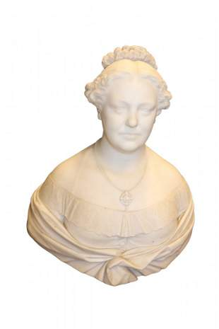 Beautiful Alabaster Carved Bust