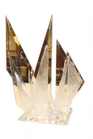 MCM Signed Muniz Acrylic Sculpture