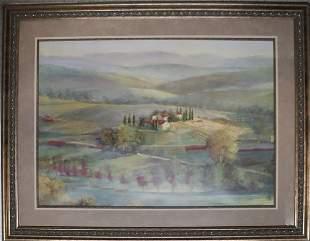 Landscape Scene Oil on Canvas