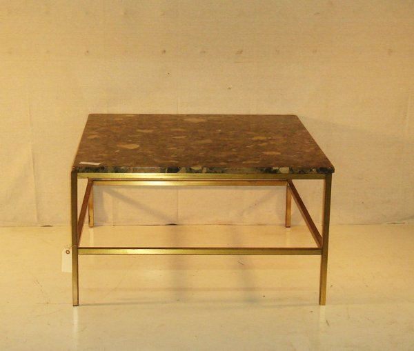6: Florence Knoll Marble and Brass Occasional table