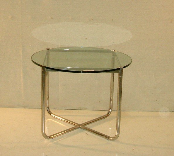 7: Modern Chrome and Glass Occassional Table