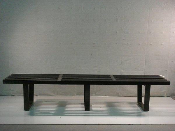 19: Herman Miller Black Slatted Bench