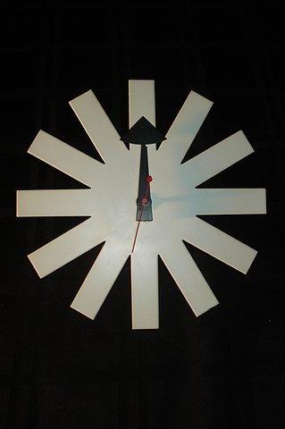 """23: Herman Miller """"Asterisk"""" Clock. White."""