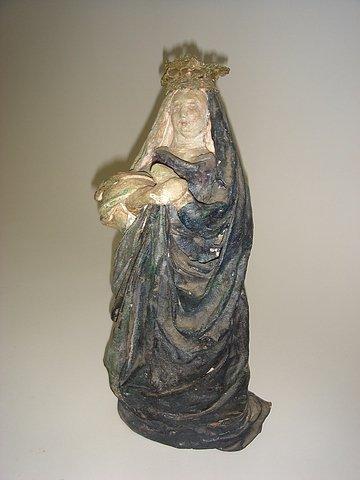 24: Folk Art Paper Mache Madonna