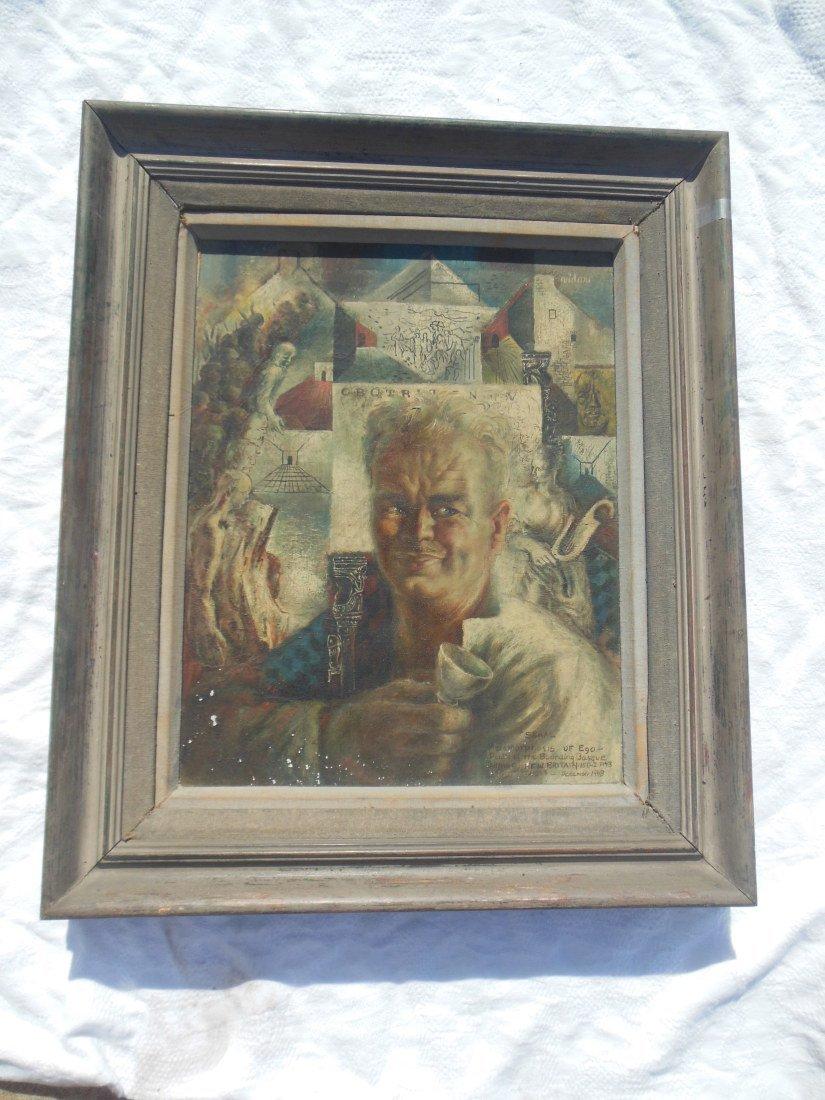 Frede Vidar Oil on Canvas