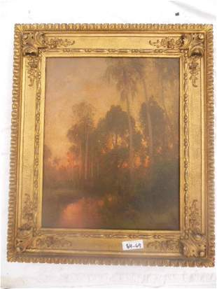 Hermann Herzog Oil on Canvas