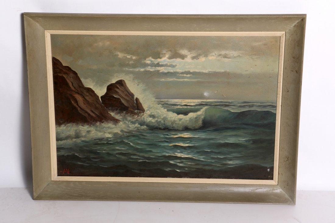 Alexander Nelke Seascape Oil on Canvas (A)
