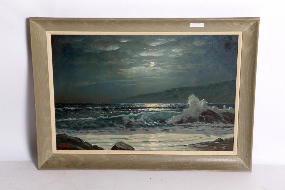 Alexander Nelke Seascape Oil on Canvas (B)
