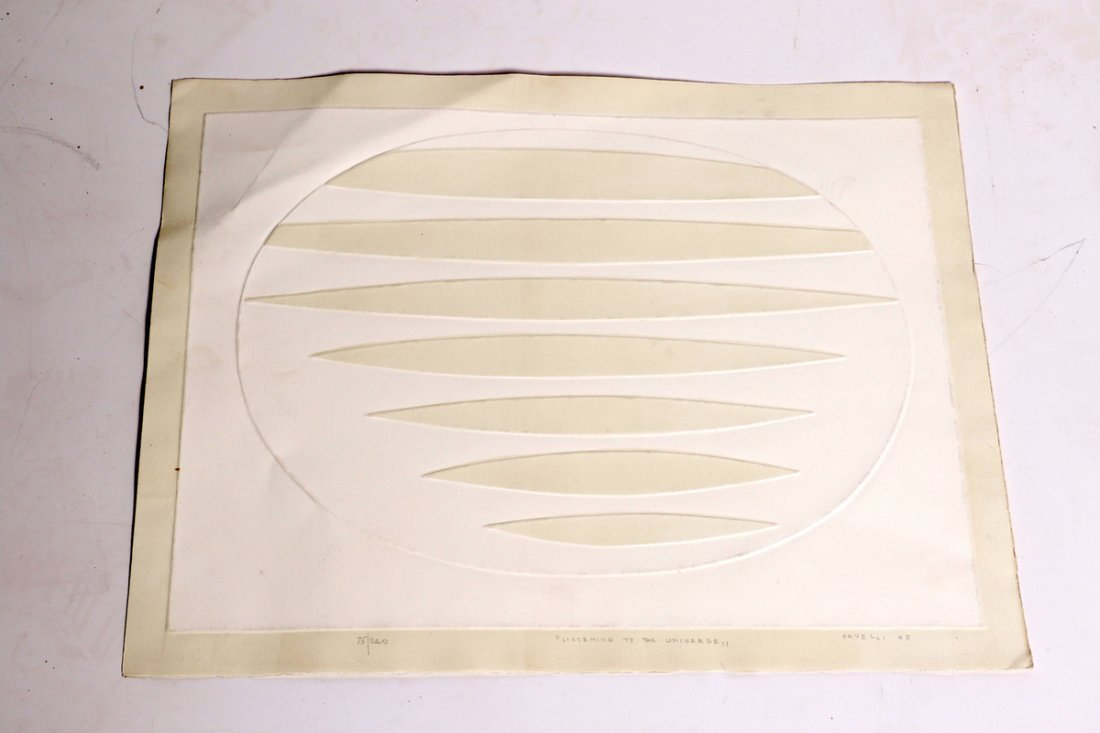 Intaglio by Angelo Savelli 1965