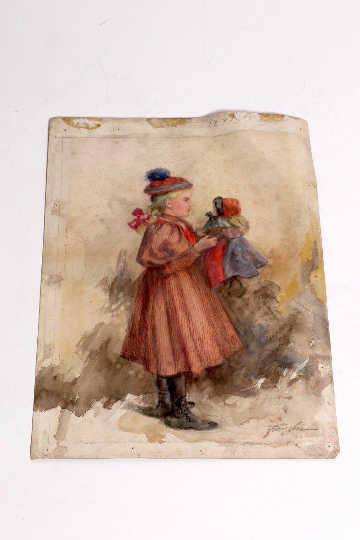 August Reinhold Franzen Watercolor