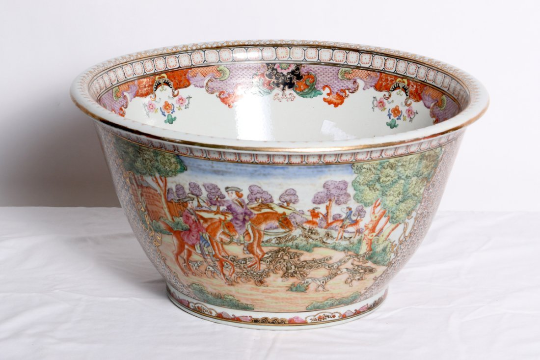 A Chinese circular porcelain bowl.