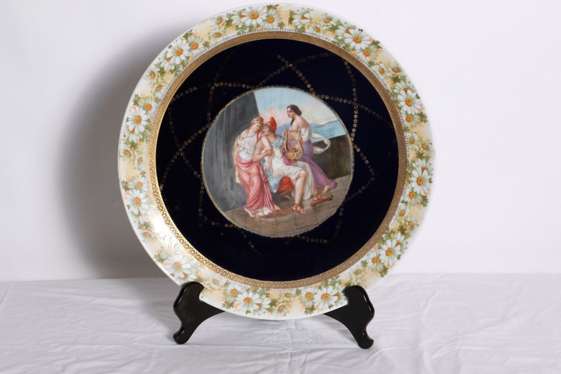 Hand Painted Royal Vienna Charger