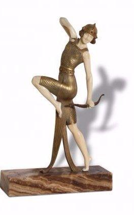 Exquisite French Art Deco Sculpture by Joseph Descomps