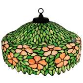 Handel Dome Stained Glass Chandelier