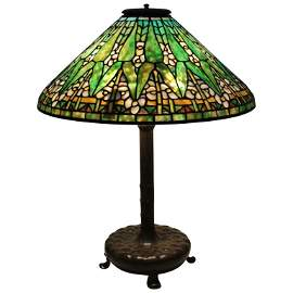 Tiffany Sudios Stained Glass Table Lamp