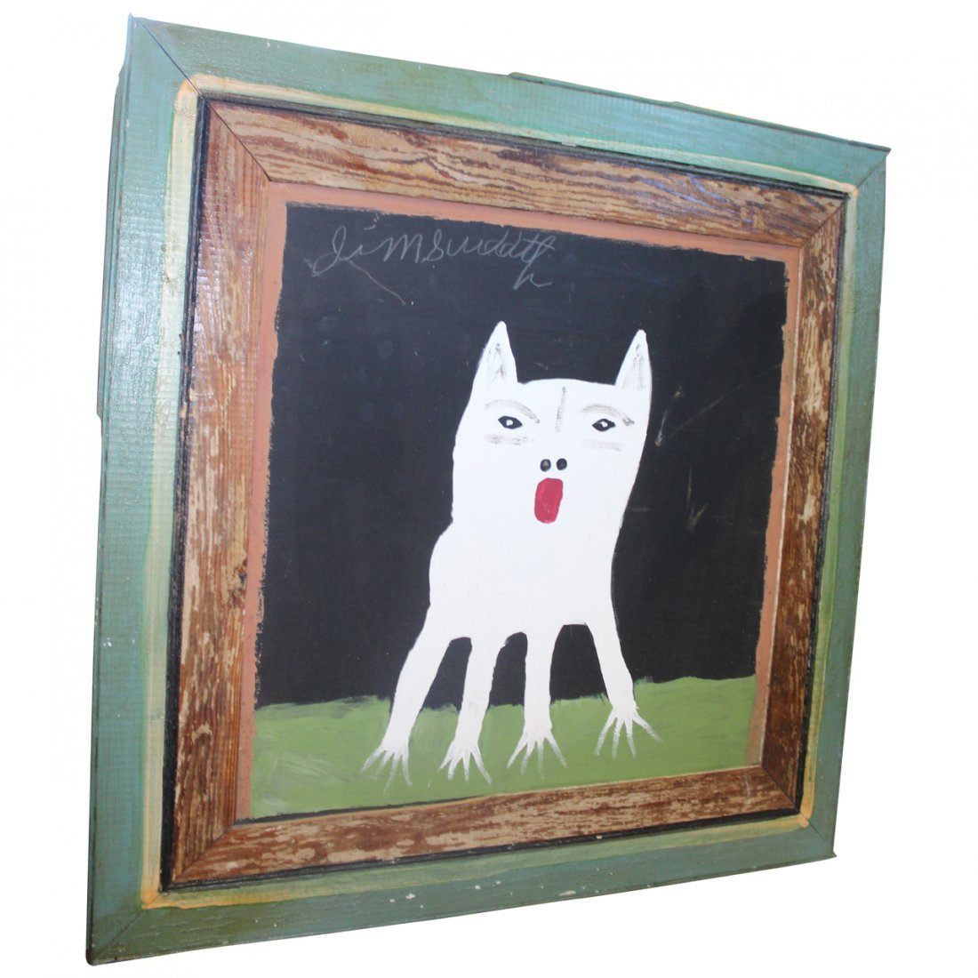 "Jimmy Lee Sudduth ""Toto"" Folkart Painting Original art."
