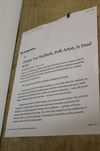 "Jimmy Lee Sudduth ""Toto"" Folkart Painting Original art. - 3"
