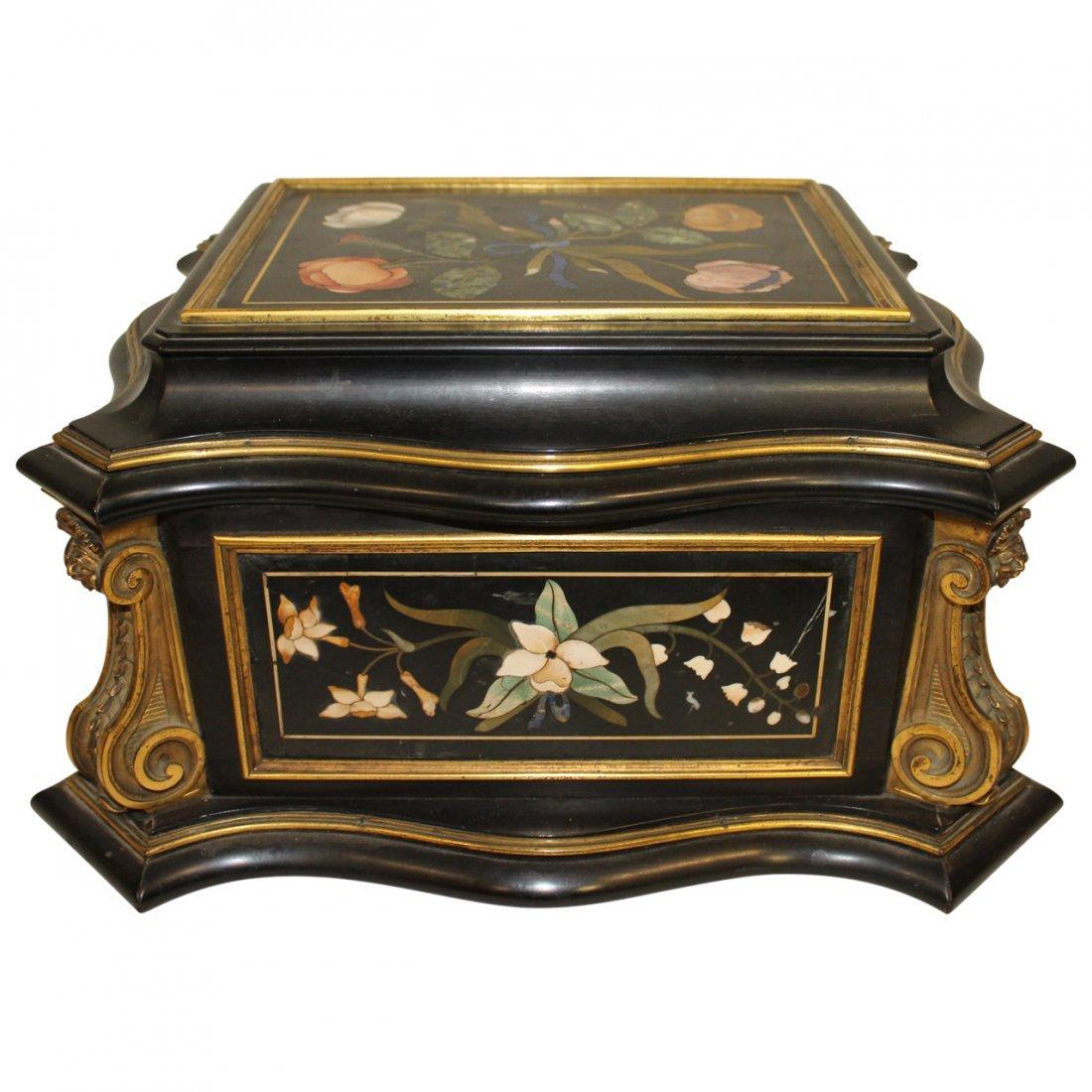 19th century Pietra Dura Casket