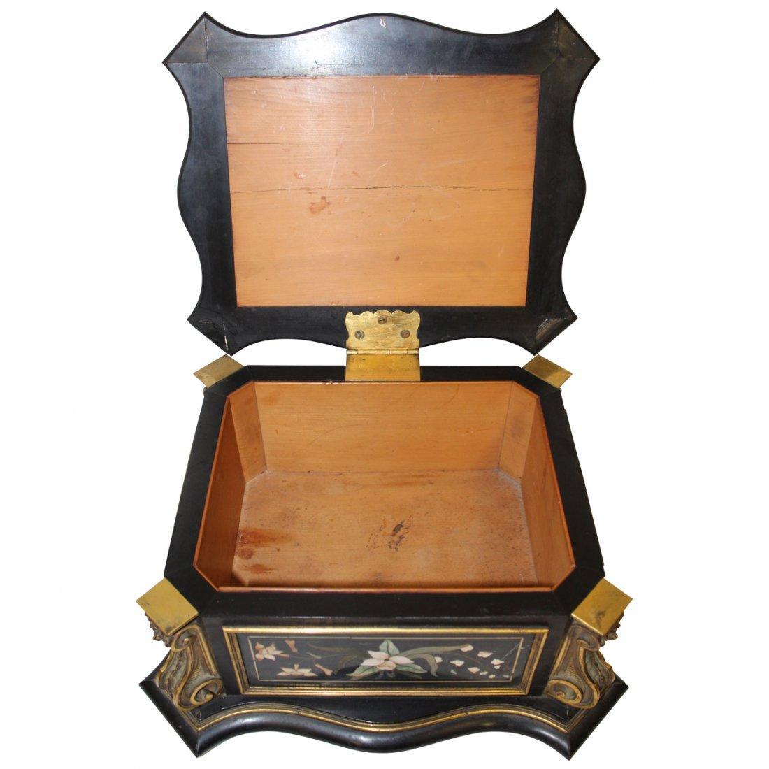 19th century Pietra Dura Casket - 3