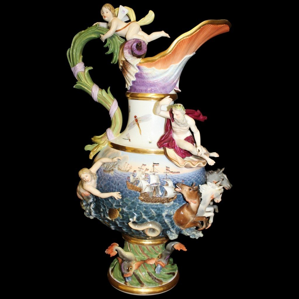 18th/ 19th Century Meissen Elemental Water Ewer