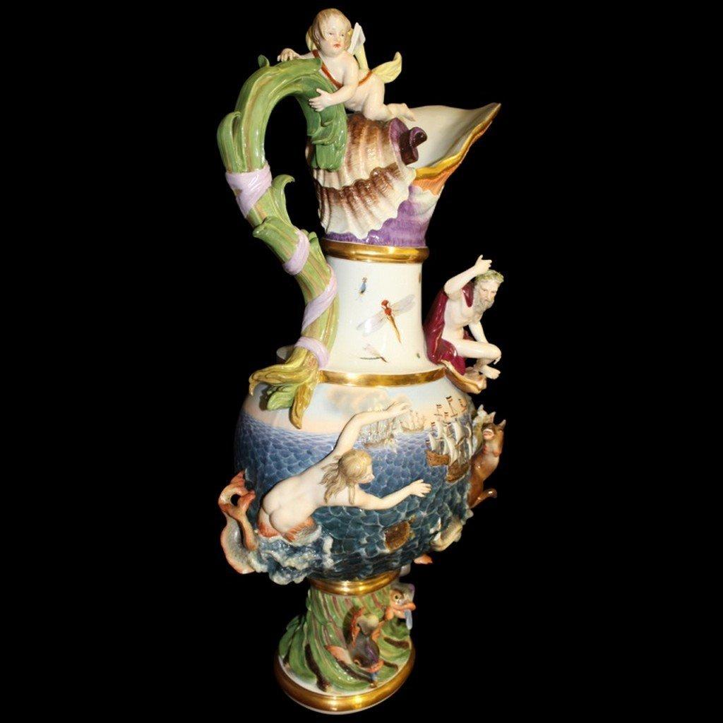 18th/ 19th Century Meissen Elemental Water Ewer - 2