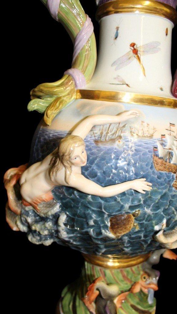 18th/ 19th Century Meissen Elemental Water Ewer - 4