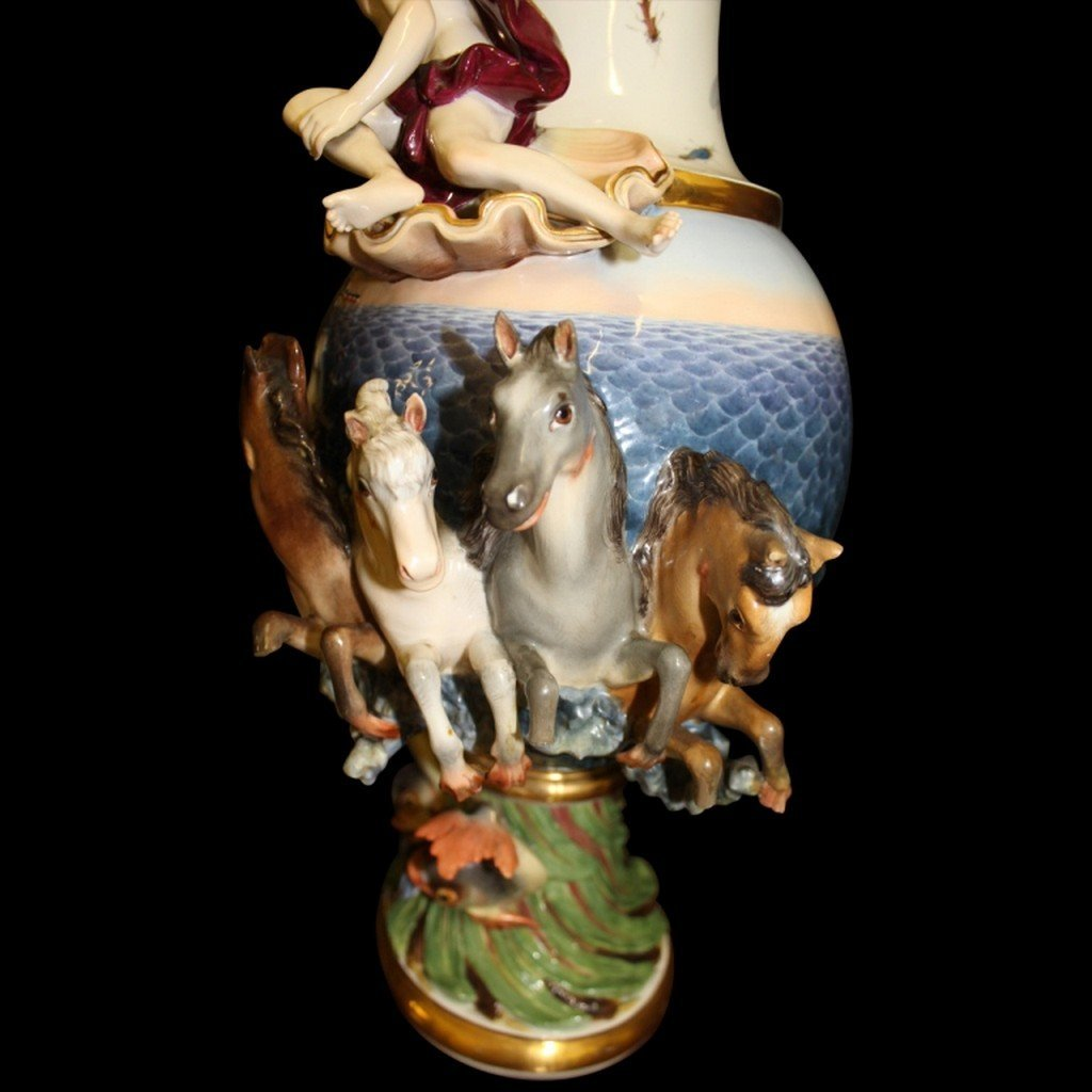 18th/ 19th Century Meissen Elemental Water Ewer - 6