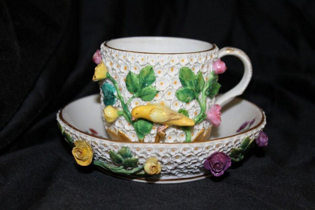 Meissen Tea Cup & Saucer Snowball design.